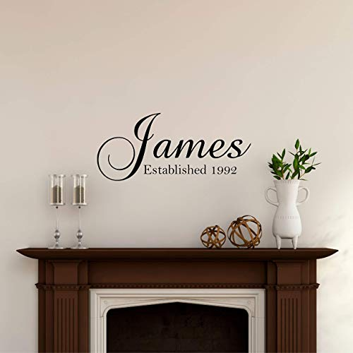 (Custom Family Name Wall Decal - Personalized Name Wall Sticker - Custom Name Wall Sign - Monogram Stencil)
