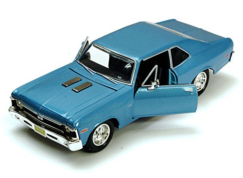 Maisto 1970 Chevy Nova SS, Blue 34262 - 1/24 Scale Diecast Model Toy Car, but NO - Nova Car Diecast
