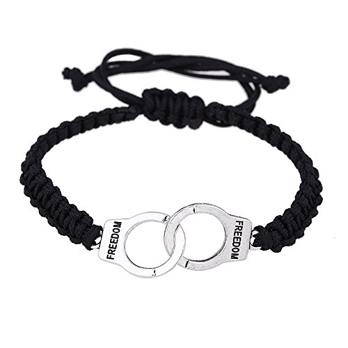 -  Orcbee Women Bracelet Punk Braided Handcuffs Gift Fine Jewelry (A)
