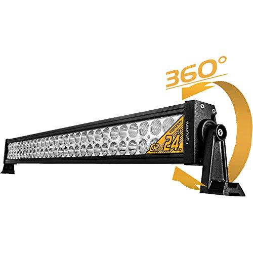 Led Light Bar �eyourlife 24 Flood Spot Combo Beam Work Light Driving Lights Fog Lamp 7200lm 120w Offroad Lighting For Suv Ute Atv Truck 4x4 Boat Pickup �2 Year Warranty