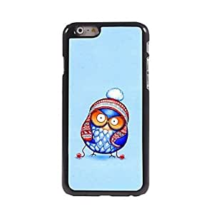 MOM Funny Owl with Cotton-padded Hat Pattern Aluminum Hard Case for iPhone 6