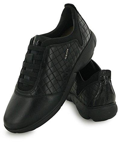 Geox black Deporte Para Cuero De 39 D Nebula Mujer F Zapatillas fBxfHCZq