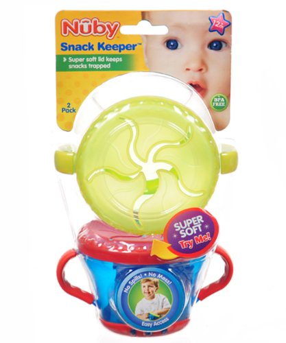 Nuby Snack Keeper 2 Pack yellow