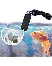 Quietest Aquarium Air Pump - Air Stone and Hose Included - Low Power Usage - USB Air Pump
