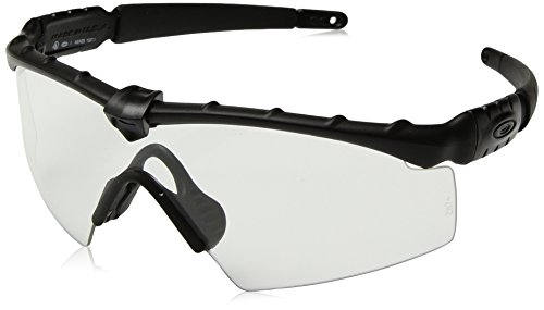 Oakley Men's OO9213 Ballistic M Frame 2.0 Shield Sunglasses, Matte Black/Clear, 32 ()