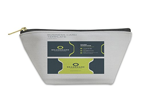 Gear New Accessory Zipper Pouch, Business Card Template Personal Visiting Card With Company Logo Clean Flat, Small, 5811199GN