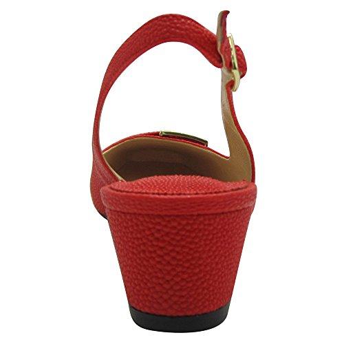 J.renee Womens Venda Dress Pump Red
