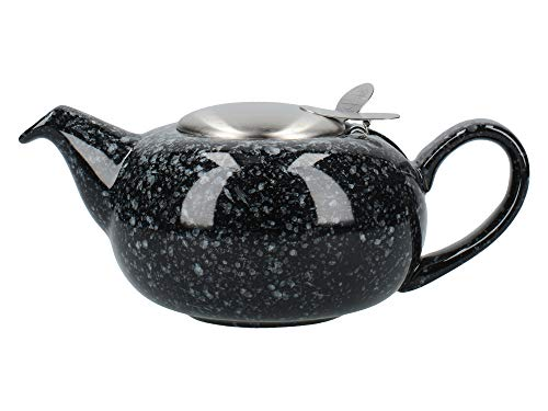 London Pottery Pebble - Tetera pequena con infusor para te suelto, gres, color negro, 2 tazas (500 ml)