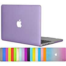 """Easygoby Matte Frosted Silky-Smooth Soft-Touch Hard Shell Case Cover for Apple 13.3""""/ 13-inch Macbook Pro with Retina Display Model A1425 /A1502 (NO CD-ROM Drive) - Purple"""