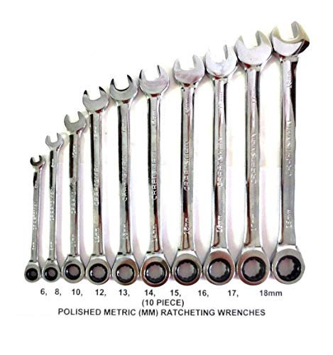 - Craftsman 10pc Metric/MM Polished Ratcheting Wrench Set- (Bulk Packaged)