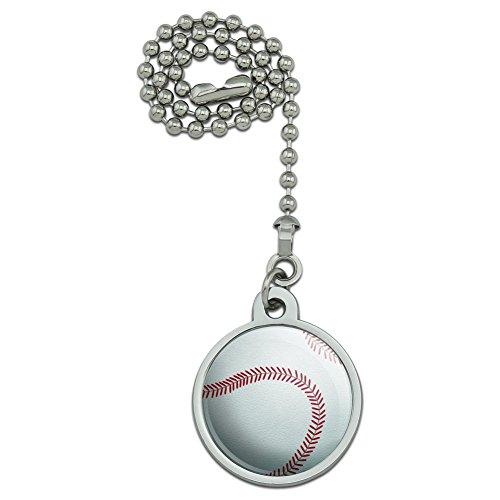 Baseball Ball Ceiling Fan and Light Pull Chain (Baseball Ceiling Fan Pull)