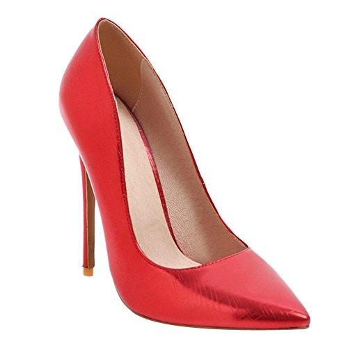 Rosso Elegante Donna Scarpe High MissSaSa Heels qYwfpR