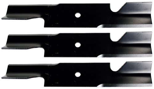 USA Mower Blades U11184BP (3) Extra High-Lift for Scag A48184 482877 A48184HL 482466 48110 Length 16-1/2 in. Width 3 in. Thickness .200 in. Center Hole 5/8 in. 32 in. 48 in. Deck