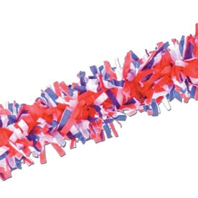 Tissue Festooning (red, white, blue) Party Accessory  (1 (Red White And Blue Garland)