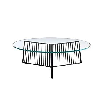 Driade Anapo Couchtisch Schwarz Tischplatte Glas 15mm ø 108cm