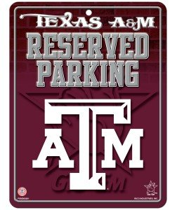 Rico NCAA Texas A&M Aggies 8-Inch by 11-Inch Metal Parking Sign Décor Aggies Sign