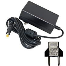 HQRP AC Adapter / Power Supply for Brother P-Touch PT-D200 PT-2730 PT-2730VP PT-7100 PT-1090BK PT-1230pc PT-1280 PT-1280SR PT-D200BT PT-D200VP AD-50000ES Labeling System plus Euro Plug Adapter