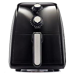 BELLA 14538 Electric Hot Air Fryer with Removable Dishwasher Safe Basket, 2.5 L, Black