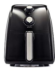 BELLA (14538) 2.5 Liter Electric Hot Air Fryer with Removable Dishwasher Safe Basket, Black