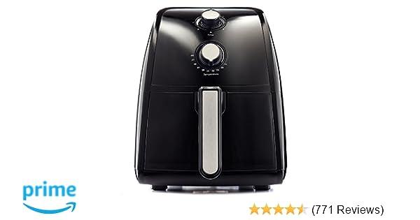BELLA 14538 2.6 Quart Air Convection Fryer, Black