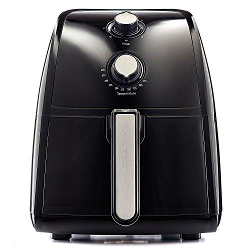 BELLA 14538 Electric Hot Air Fryer with Removable Dishwasher Safe Basket, 2.5 L, Black