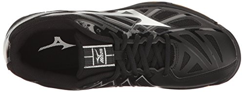 Hurricane Shoe Wave 3 Black Silver Women's Mizuno Multi Volleyball qXaEXw