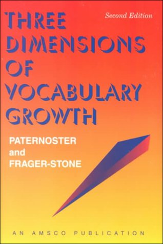 (Three Dimensions of Vocabulary Growth (2nd ed - #R450P))