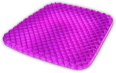 Gel Seat Cushion Comfort Honeycomb Egg Crate Design Gel Pad Provides Excellent Support For Lower Back, Spine, Hips Promotes Venting & Good Sitting ...