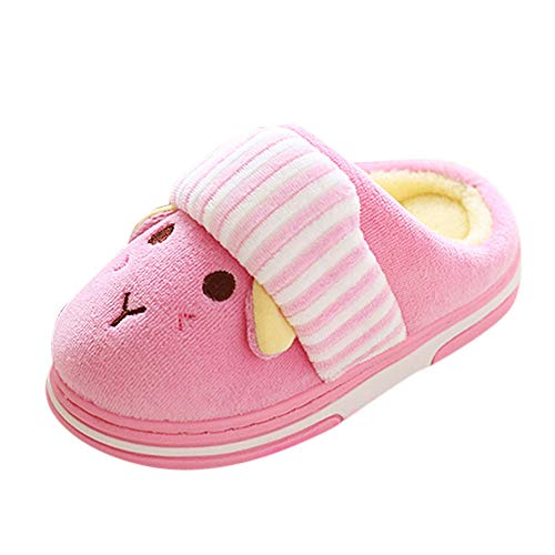 Slippers for Baby Girls Boys, Winter Home Slipper Cartoon Indoors Sandal Pink ()