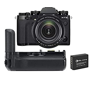 Fujifilm X-T3 Mirrorless Digital Camera with XF 16-80mm F4.0 R OIS WR Lens, Black - with Fujifilm VG-XT3 Vertical Battery Grip, Spare Battery