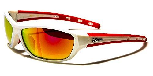 X-Loop Lunettes de Soleil - Sport - Cyclisme - Ski - Vtt - Running - Moto - Tennis / Mod. Cobalt Blanc Orange XILEi6S