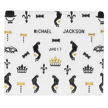 5pcs Black Michael Jackson Nail Art Stickers Amazon Sports