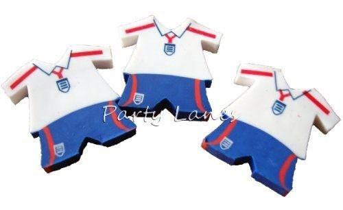 12 England Fußball Trikot Radiergummi (England football kit erasers) Henbrandt