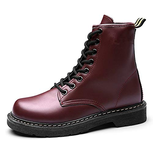 plus Lase Stiefel LIANGXIE Fashion Für Damen Stiefeletten Stiefel velvet Runde Toe Kampf Booties up Frauen Brown Warme Martens Leder Schuhe Lace up Mode Frauen ptqt7Bf