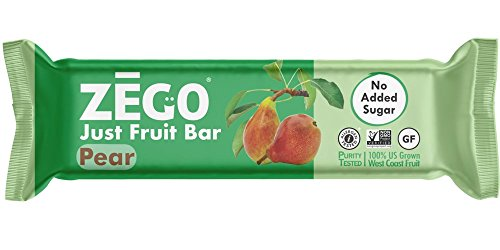 - ZEGO Foods Just Fruit Bars, Pear, Non GMO, Vegan, Gluten Free, No Added Sugar, 25g (Pack of 12)