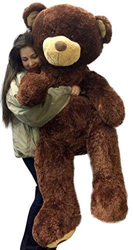 amazon com giant 5 foot teddy bear 60 inch soft brown oversized big