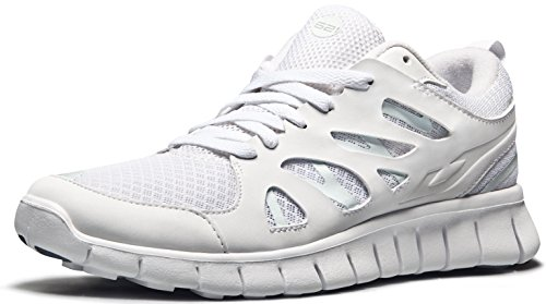 TSLA Men's Boost Running Walking Sneakers Performance Shoes, TF-E621-WHT, 7