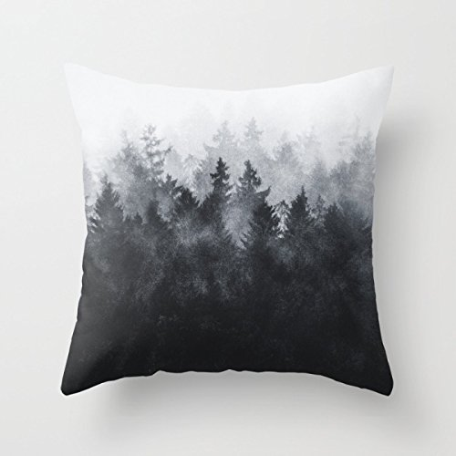 SkuGo Throw Pillow Covers Of Mountians Forest For Wife Bar Drawing Room Monther Family Kids Room 18 X 18 Inches / 45 By 45 Cm(two Sides)