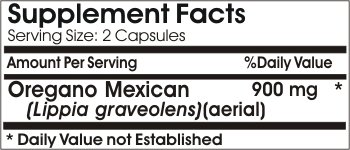 Oregano Mexican 900mg * 180 Capsules 100 % Natural - by EarhNaturalSupplements