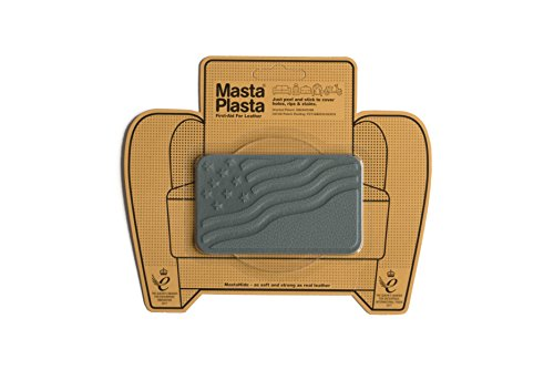 MastaPlasta Self-Adhesive Patch for Leather and Vinyl Repair, U.S. Flag, Gray - 4 x 2.4 Inch - Multiple Colors Available