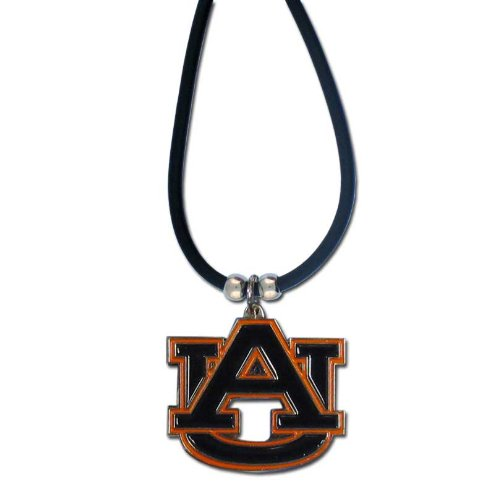 NCAA Auburn Tigers Rubber Cord Necklace (Pendant Logo Tigers)
