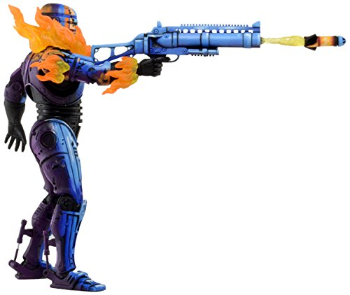 "NECA RobocopvsTerminator (93' Video Game) 7"" Series 2 Robocop Battle Damaged Action Figure"