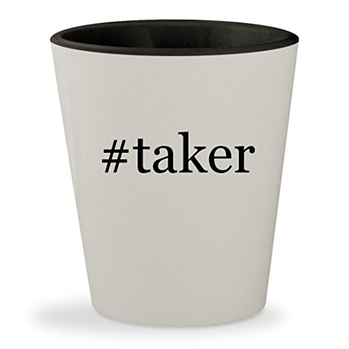 #taker - Hashtag White Outer & Black Inner Ceramic 1.5oz Shot Glass