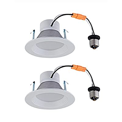 Utilitech 2-Pack 50-Watt Equivalent White LED Recessed Retrofit Downlight (Fits Housing Diameter: 4-in)
