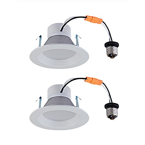 Utilitech 4 In White Integrated Led Remodel Recessed Light: Utilitech Pro 2-Pack 50-Watt Equivalent White LED Recessed