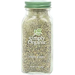 Simply Organic Lemon Pepper Certified Organic, 3.17-Ounce Container