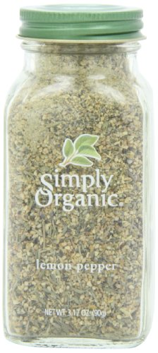 (Simply Organic Lemon Pepper Certified Organic, 3.17-Ounce Container)