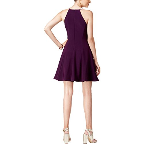 Petites Matte Jersey Womens Cocktail Dress Embellished Magenta Betsy Plum Adam amp; ICtqww4