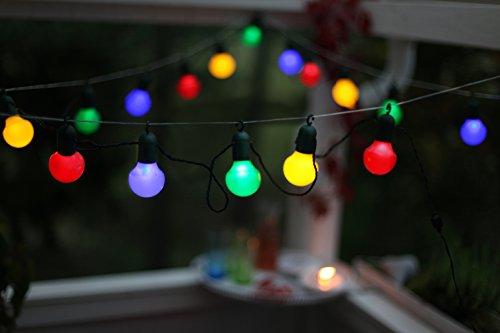 kamaca guirnalda de luces m bombillas led de bajo consumo de colores adecuada para interior y exterior longitud total incluyendo interruptor
