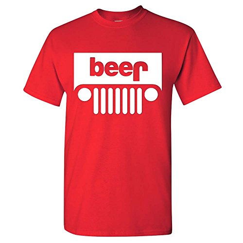 Beer Jeep Funny Drinking Men's T-Shirt